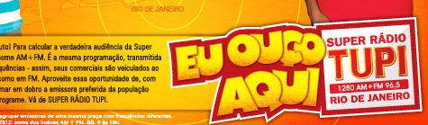 RÁDIO TUPI RJ: AO VIVO FUTEBOL SUPER RÁDIO TUPI RIO DE JANEIRO / FUTEBOL AO VIVO